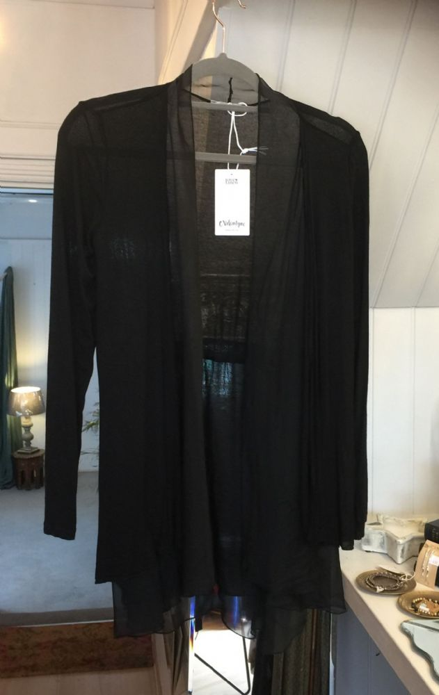 Silky Open Cardigan - Black